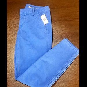 NWT Gap Skinny Mini Khaki, Royal Blue, Size 2
